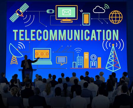 telecommunications: Telecommunication Connection Links Networking Concept