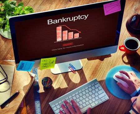 overdrawn: Bankruptcy Debt Loan Owed Payment Trouble Concept