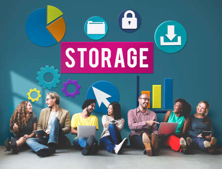 storage: Storage Cloud Network Space Concept