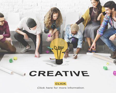 skills diversity: Creative Ideas Imagination inspiration Light Bulb Concept