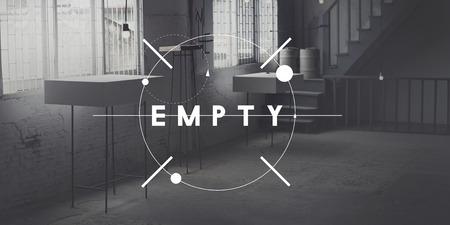 desolate: Empty Desolate Room Studio Interior Concept Stock Photo
