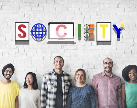 belonging: Society Connection Global Community Unity Citizen Concept Stock Photo