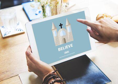 creer: Creer fe Imaginaci�n Misterio mentalidad Concept
