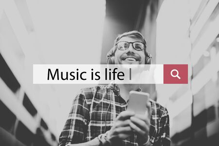 reproduced: Music Melody Audio Sound Rhythm Concept Stock Photo