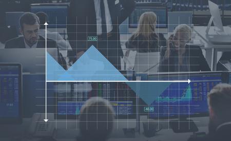 Area Grafiek Grafiek Statistieken analytics Concept