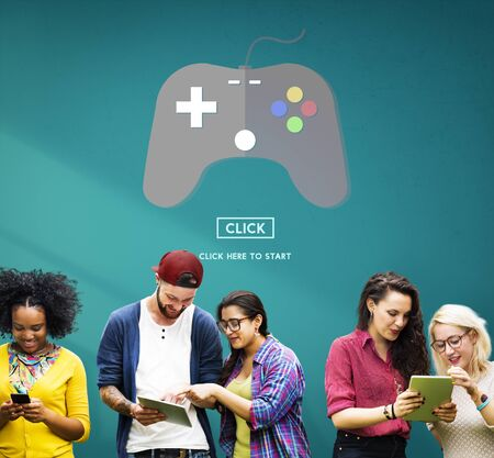 electronic gadget: Game Console Entertainment Gadget Electronic Concept Stock Photo