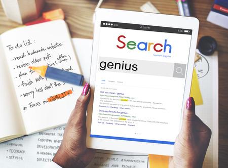 inteligent: Genius Smart Expert Brilliant Bright Concept Stock Photo