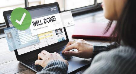 accomplishment: Successful Well Done Accomplishment Achievement Excellence Concept