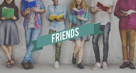 studens: Friends Friendship Connection Togetherness Relationship Community Concept Stock Photo