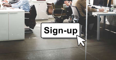 account executive: Sign-Up Join Login Member Network Page User Concept