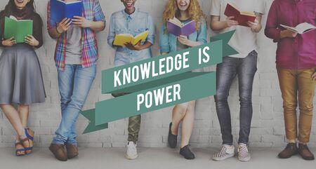 studens: Knowledge is Power Education Wisdom Success Concept