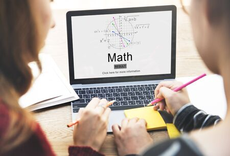 Math Mathematic Education Knowledge School Concept Stok Fotoğraf