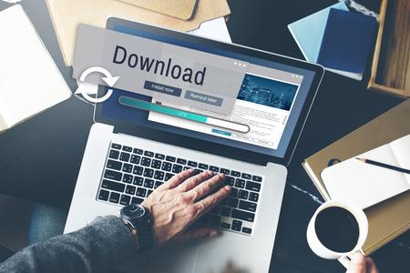 Download von Informationstechnologie Daten Computer Concept