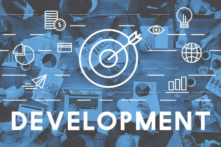 bull's eye: Bulls Eye Goal Mission Icon Development Concept