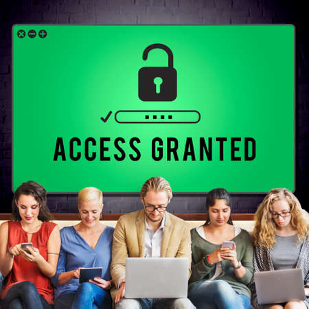 granted: Access Granted Anytime Available Possible Unlock Concept