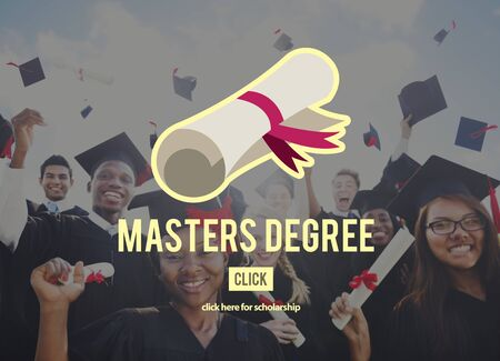 masters: Masters Degree Knowledge Education Graduation Concept