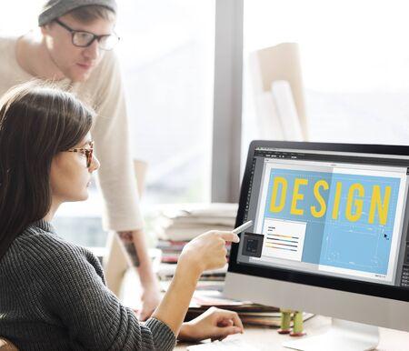 computer screen: Design Floor Plan Software Concept