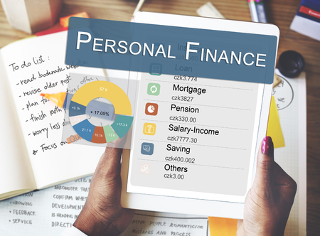 personal finance: Personal Finance Information Balance Privacy Concept Stock Photo