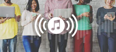 loud: Music Audio Play Voive loud Concept