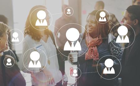 Connexion Busines Personnes Networking Connect Concept Banque d'images