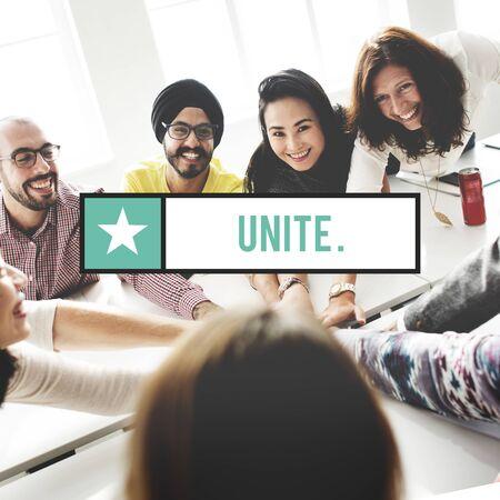 unite: Unite Community Connection Friendship Union Concept Stock Photo