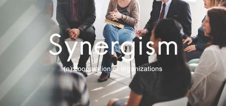 synergism: Synergism Team People Graphic Concept Stock Photo