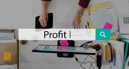 gain: Profit Assets Benefit Earning Financial Gain Concept