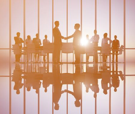 social grace: Business People Meeting Corporate Professional Occupation Concept