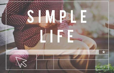simple life: Simple Life Enjoy Meditation Mindful Natural Concept