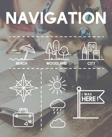 mapping: Location Mapping Journey Navigation Concept Stock Photo