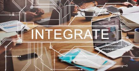 integrate: Integrate Circuit Board Graphics Concept