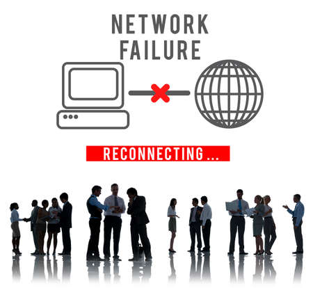 failed strategy: Network Failed Fiasco Stop Loss Inability System Concept Stock Photo