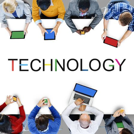 innovative: Technology Innovation Evolution Tech Innovative Concept Stock Photo