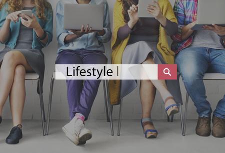 interests: Lifestyle Behaviour Culture Habits Interests Concept Stock Photo