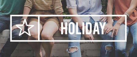 fiesta popular: Holiday Vacation Relax Break Concept Stock Photo