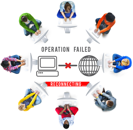 failed: Operation Failed Fiasco Neglect Unsuccessful Concept