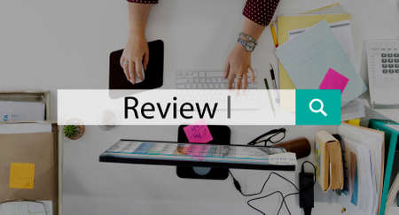review: Review Assess Audit Evaluate Review Report Concept Stock Photo