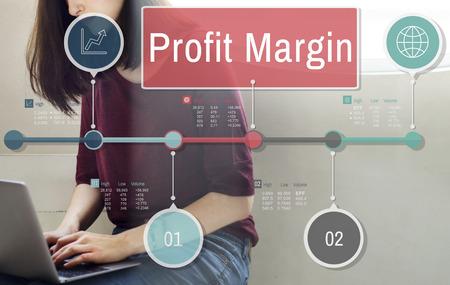margen: Profit Margin Finance Income Sales Revenue Accounting Concept