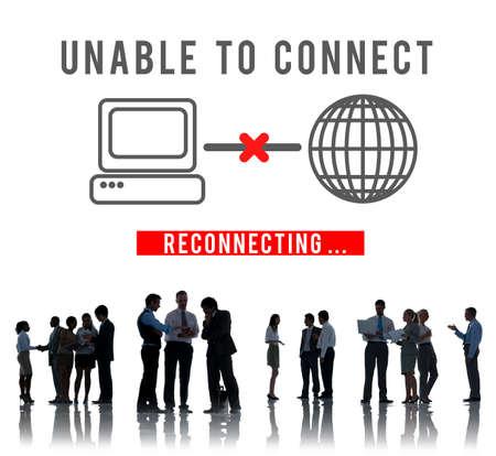 disconnection: Unable Connect Disconnect Error Failure Problem Concept