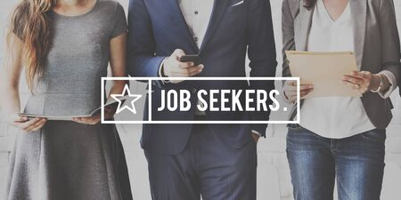 seekers: Job Search Seekers Career Applicant Recruitment Concept