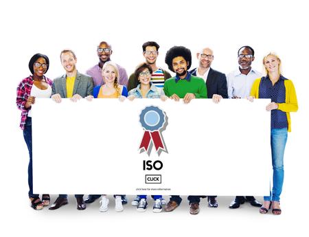 ISO International Standards Organisation Qualitätskonzept Standard-Bild - 57557436