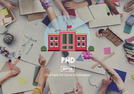 university admission: PHD Academic Education Degree Study Concept