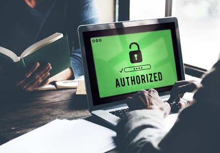authority: Authorized Access Opened Pass Authority Concept Stock Photo