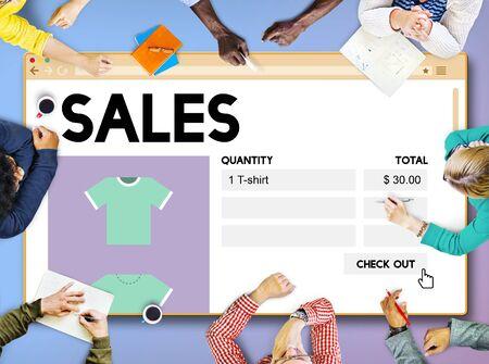 margin: Venta concepto de ventas Comercio Ingresos Margen de beneficio al por menor