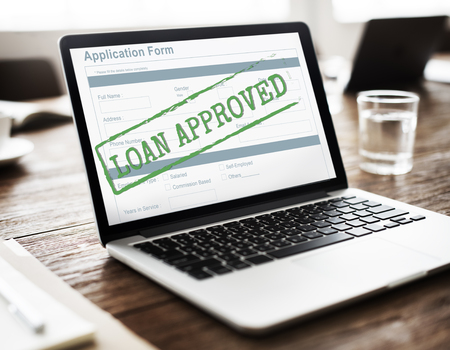 Loan Approved Accepted Application Form Concept Banco de Imagens