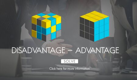 Disadvantage Advantage Comparison Decision Concept