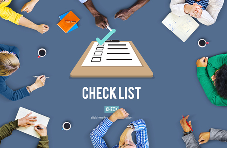 the view option: Checklist Choice Decision Document Mark Concept Stock Photo