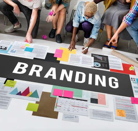 logo marketing: Branding Copyright Label Logo Marketing Sign Concept