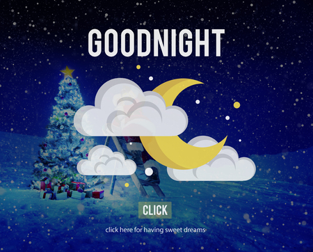 sweet dreams: Goodnight Sweet Dreams Happiness Sleep Relief Concept