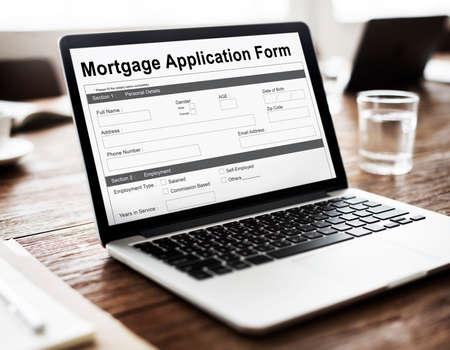 mortgage application: Mortgage Application Form Information Details Concept